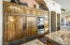 Knotty alder wood cabinetry