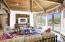 Details in wood beamed Ceiling. Living room with Views