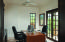 Large private office with courtyard views and plenty of built-ins