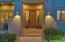 Custom door with saguaro rib inlays