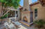 This courtyard makes year round outdoor living possible