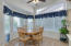 Bay window area in kitchen