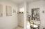 Master bath vanity area and custom built -ins