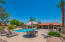 Community pool, spa, fitness room, library and BBQ grills