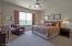 Large Primary Bedroom with Mountain Views and Private Patio create an Owner's Retreat.