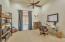 Office with custom Barn Doors