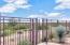 Community gate to enter preserve trails