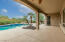 Overlooks the pool, desert common space and mountain views