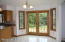 Dining area with french doors to deck