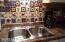 Lovely colorful tiled backsplash