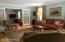 Wood floor, French doors to family room