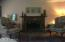 Large living room with fireplace,