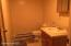 3/4 bath on lower level, perfect for family space downstairs.