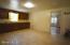 Large kitchen area.