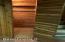Cedar claoset is fished basement