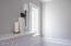 Living room mantel detail and lighting