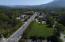 Aerial view looking east