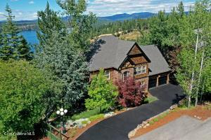 Front of Home. North East View with Hayden Lake in background