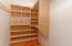 Customized walk-in closets throughout