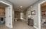 • Light sand carpet • Mindful grey painted walls • Can lighting • Hall linen closet