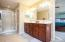 Master bath with double vanity, walk-in closet separate shower/tub