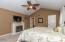 • New silver grey carpet ~ 2014 • Tobacco painted walls • Cathedral ceiling • New lighted ceiling fan ~ 2014 • Shears are negotiable • Faux fireplace does not stay