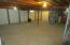 Large basement with crawl space ready to be finished