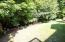 Private, treed lot