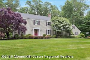 Gorgeous Colonial on 1.25 acres on one of the finest streets in Colts Neck