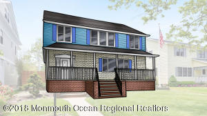 Photo rendering of home with front porch added.
