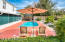 Inground saltwater pool,gazebo and outdoor kitchen