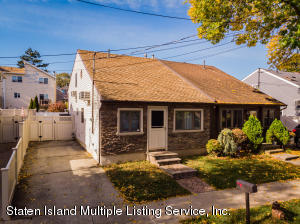 LOCATION LOCATION LOCATION! Semi-detached cape in the heart of great kills on a dead end street! This home features 3 bedrooms 1 bath with the master bedroom being loft style. Two car private parking. This house is built on a slab so there is no need to worry about flooding( no water when sandy hit ); This home DOES NOT require you to have flood insurance. Close to all shops, public transportation and marina. Great for first time home buyers ! This home is priced to sell! Call today to schedule a showing.