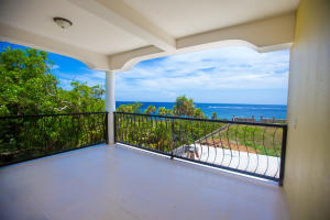 This ocean view condo is located on the second floor.