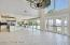 """Great Room With Dual Designer 72"""" Ceiling Fans Facing Kitchen"""