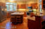 Gourmet kitchen with NEW stainless appliances, granite and butcher block counter tops.