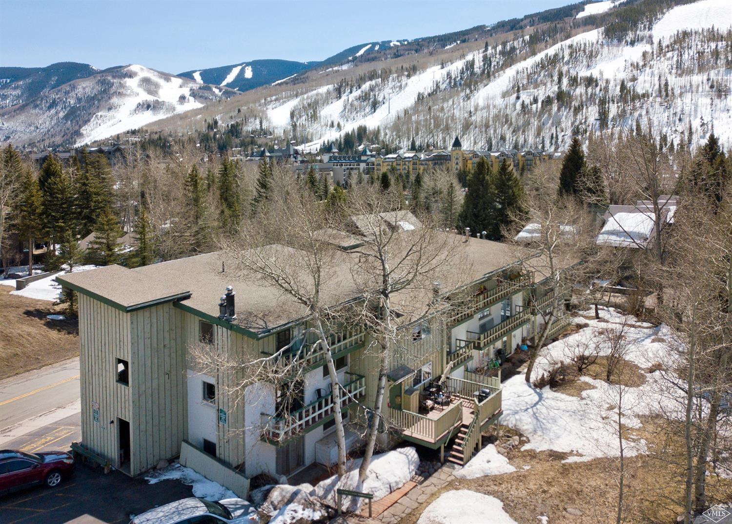 Sometimes where you live makes all the difference. Quick access to Lionshead and Vail Village via pedestrian overpass, drive up to Piney Lake or take your dog for a hike on the North Trail. Well situated for a life outside. Great unit with natural light, deck and ski slope views. Utilize the Vail Indeed program, short term rent or provide housing for your employees. Remodeled with hardwood floors, brand new kitchen and bathroom. Offered fully furnished. Low HOA dues include heat.