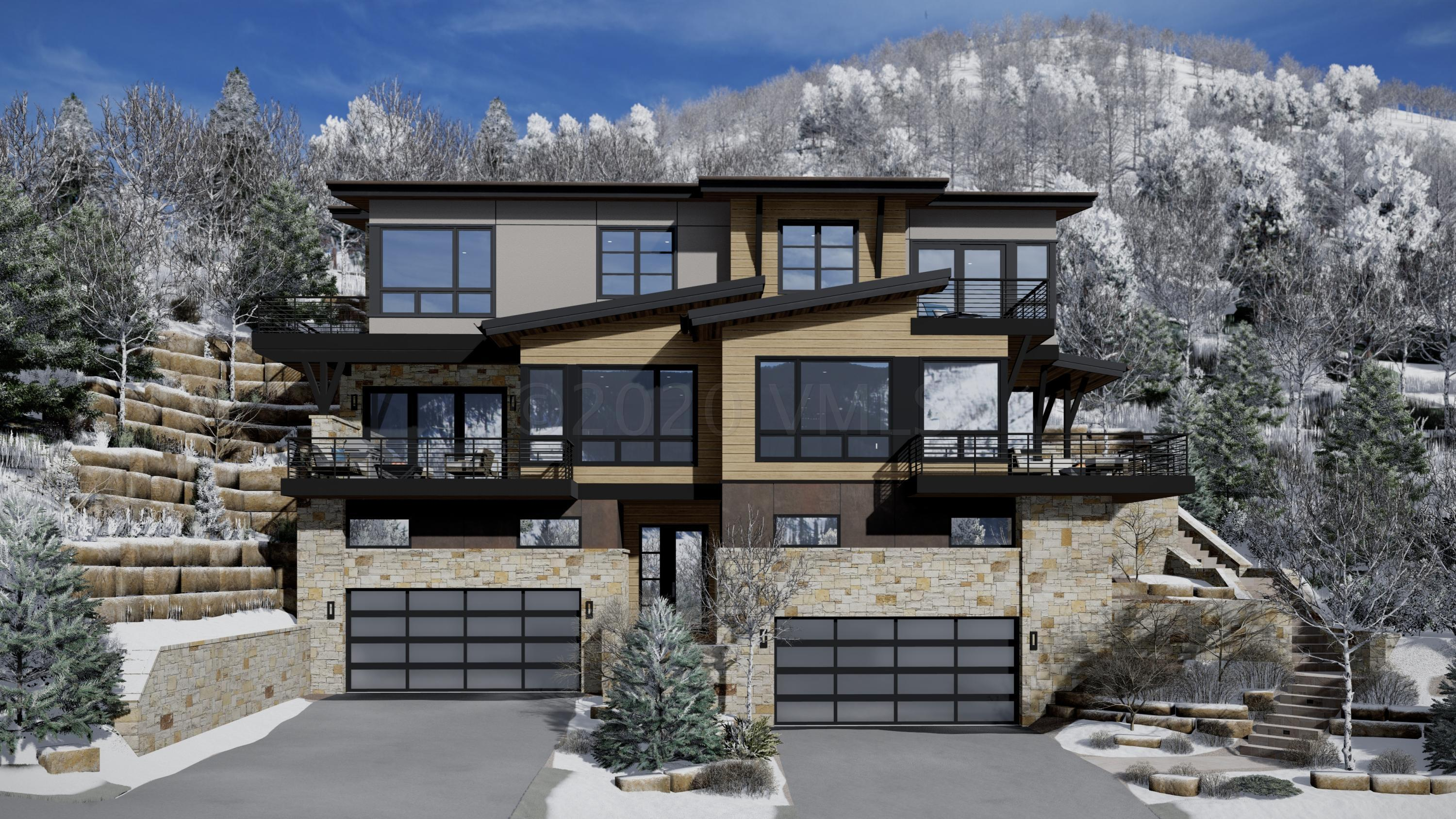 This new construction mountain modern masterpiece designed by Scott Turnipseed brings the outdoors in. Take in the sweeping, south-facing, sun drenched mountain views which are among the Vail Valley's best vistas. The dramatic living room features a floor-to-ceiling slate grey Astria-Rhapsody fireplace, and expansive windows encapsulating the lush vegetation just west of the Vail mountain ski slopes.  The fireplace serves as the centerpiece of the room separating the living room from the dining area as part of the open floor plan on the main level.  With a clean and contemporary design coupled with a serene ambiance, enjoy effortless living. The gourmet kitchen has modern details and a sophisticated design, featuring ultra white quartz countertops, gorgeous imported Arrex Le Cucine Italian cabinets and white oak floors.  Additionally, the high-end appliances shall be appreciated by the most critically acclaimed chefs including Subzero and Wolf, Brizo hardware and fixtures, Italian Barausse Feel Plus Doors in a Otter color with a trimless drywall return, and designer lighting that is both great for gloomy days or sets just the right mood for evenings.  The bright and open kitchen flows beautifully into the dining area, bar, living room and the outdoor patio. The master suite has incredible views and the bathroom has gorgeous grey glass tile.  All bathrooms have European glass and curbless entry, Brizo fixtures, and unique materials from one another but all have that same consistent feel within the home. The modern bunk room also has a sitting area for kids to watch a movie or play games. The entrance to the house has a convenient mud room for a houseful of active people with plenty of room for gear.  What doesn't make sense to be kept indoors has plenty of space in the 2-car garage. With limited inventory of new construction, we invite you to discover this mountain contemporary design masterpiece. Estimated completion March 2021. Visit mls-West.NewVailHomes.com.