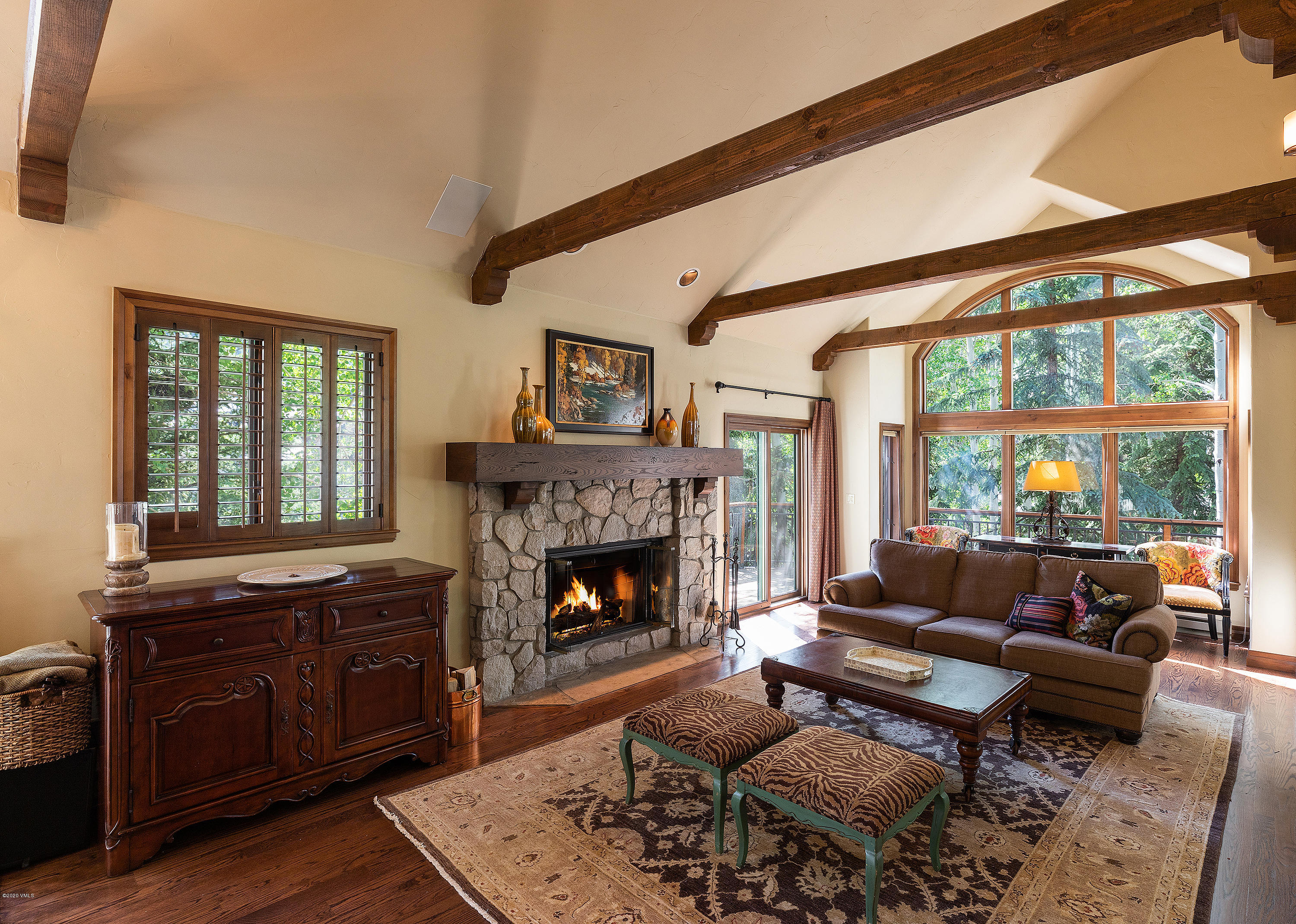 Back on the market with Price Adjustment! Rare opportunity to own a Larkspur Villa located half a block from Beaver Creek village. This single family residence provides a spacious floor plan with a bright and open main floor living area, vaulted ceilings, gourmet kitchen, two car garage and an additional lower level family room. With enough room to accommodate 13+ guests, this is the ultimate combination of spacious living with the convenience of a village location. Walking distance to shopping, dining and chairlifts. Owners and renters have ski-in/ski-out access at The Pines currently when using them for rental mgmt.