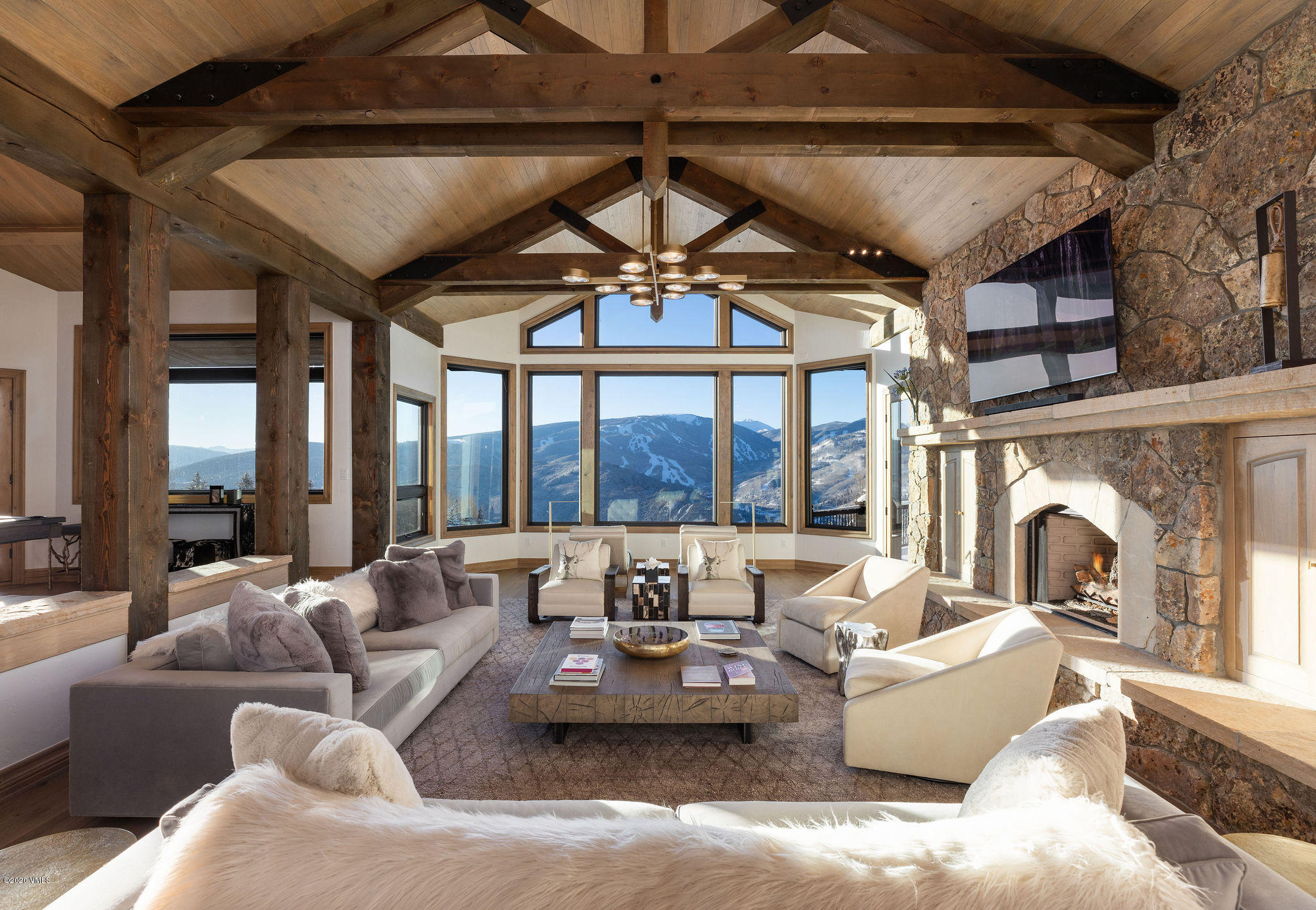 An impeccable home with a VIP front-row seat to one of the best views of the entire Vail Valley. Extensively modernized to capitalize on bringing the great outdoors in and to create vibrant spaces filled with light and perfectly appointed furnishings. This home is conducive to single-level living with the addition of four guest suites and plentiful rooms to gather and celebrate. Extensive decks and patios grant access to endless vistas for your viewing pleasure. A 3-car garage provides plenty of space for all the toys and more. Situated pristinely on a 4.5 acre parcel, this residence will steal your heart and entice your excitement for the Mountain Lifestyle.  For buyers seeking exclusivity and privacy with commanding views, Mountain Star is a low-density community set across 1,300+ acres of rolling meadows, sage hills and forested glades. Open space parcels, which comprise the vast majority of Mountain Star's impressive acreage, are prominent through the community. Privacy and serenity are paramount, with cross-country trails providing residents access to its magnificent natural surroundings for exploration. Mountain Star is a community in the Vail Valley unlike any other. Some of the most architecturally impressive, innovative, and quality-built estate homes are located in Mountain Star, where residents, through their design, have the freedom to express themselves. A full-time, on-site caretaker carefully watches over the community, tending to the owners with great care and attention. Neighborhood gatherings take place at ''Ranch Central'', which serves as a cozy focal point for residents. Centrally located just minutes from Avon, Beaver Creek and Vail, Mountain Star is one of the valley's best-kept secrets. It is a community where understated opulence sits tucked into the trees and atop the hillside, where views of Beaver Creek and the Sawatch Mountain Range erase the hustle and bustle of the valley below.