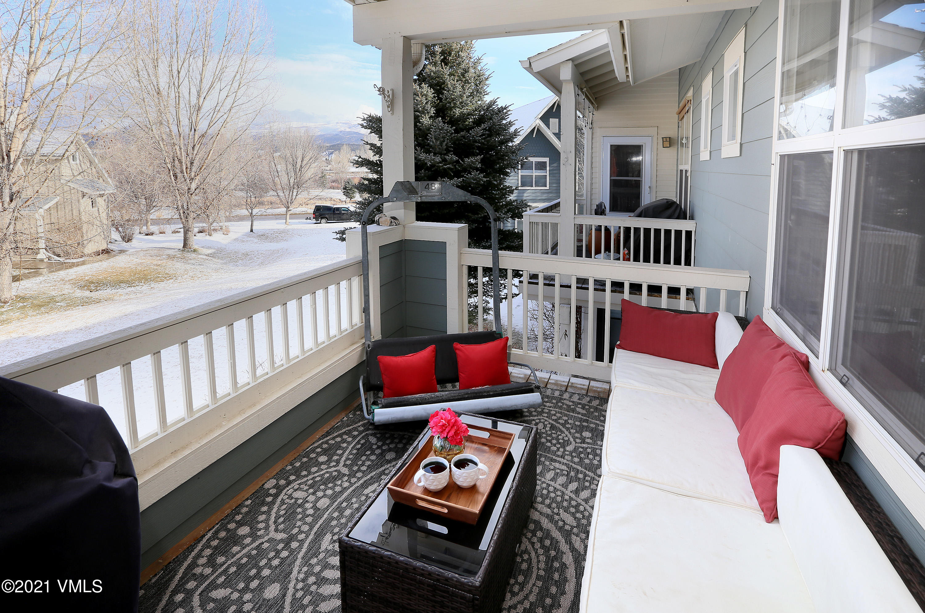 Come home to this sunny top-floor Founders Place condominium overlooking green space. Meticulously maintained, this home offers a spacious deck, hardwood floors, slab granite kitchen counters, new appliances, smarthome technology, custom closets, and a bonus storage room adds nearly 100 extra square feet. Located 25 minutes from Vail/Beaver Creek and in the heart of Eagle Ranch Village with everything out your door - shops, restaurants, outdoor concerts, miles of dog walking paths across the street, mountain biking trails, the new riverfront whitewater park, golf course, pool, children's fishing ponds and so much more. Well-managed HOA makes this the perfect starter home or rental property.