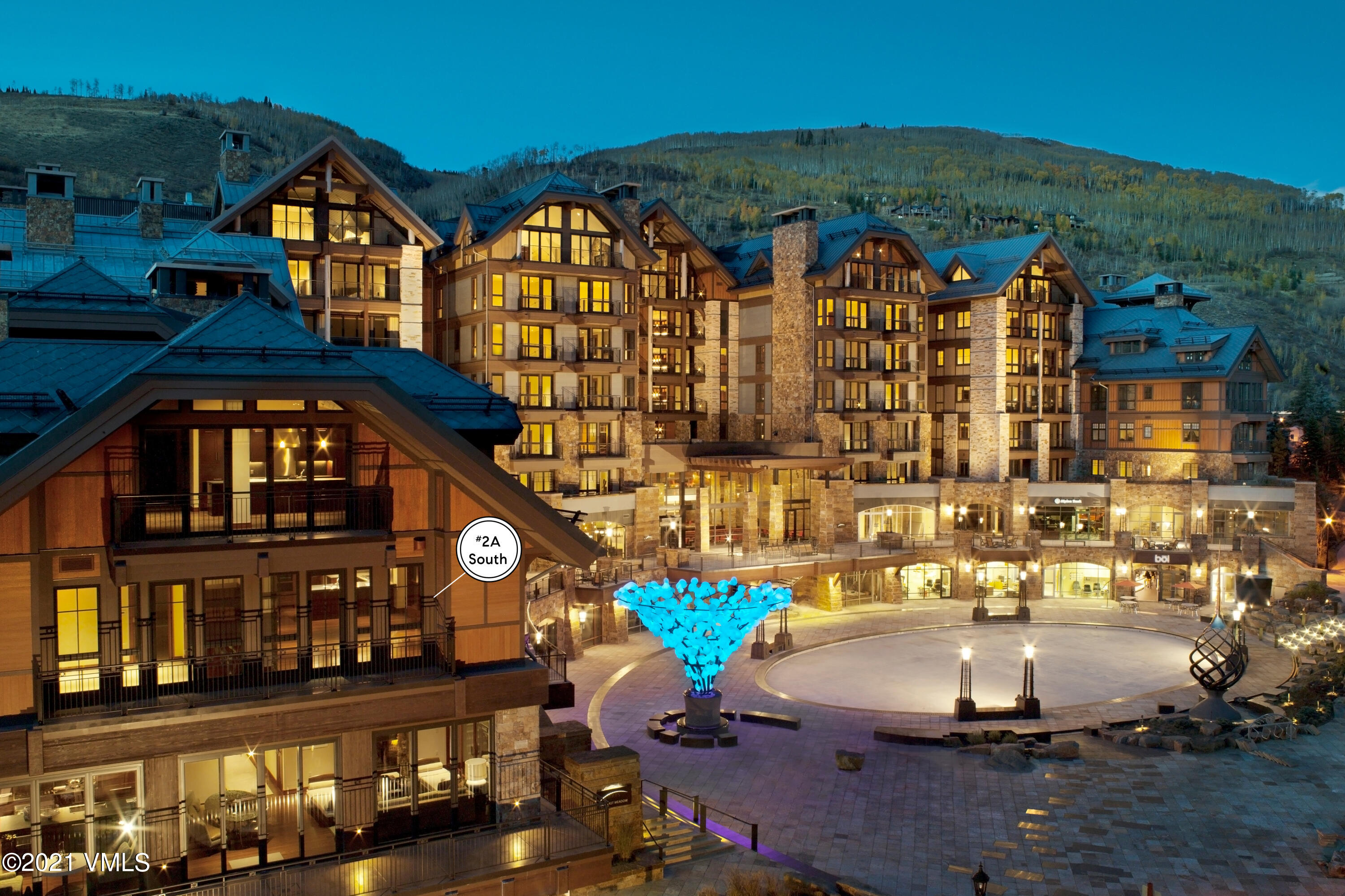 Enjoy beautiful south-facing mountain and city views from the oversized terrace overlooking Vail Village.  This 3 Bedroom, 4 Bath luxury residence is move-in ready and features some of the best amenities anywhere in Vail.  The Solaris features an indoor heated swimming pool and fitness center, world-class dining at Matsuhisa, ski valet and storage at the base of the Mountain and 24-Hour concierge service.