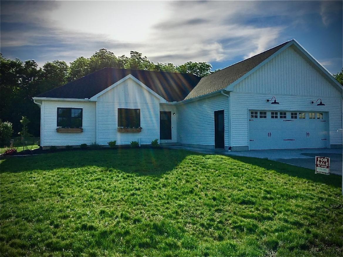 Completely brand new home. Sandy Beach addition and lake related!  Open Concept with a beautiful view out the back. Laminate flooring throughout except for the bedrooms. Quartz countertops. A nice pantry for extra storage. Appliances minus the washer and dryer are included. This one will not last long!