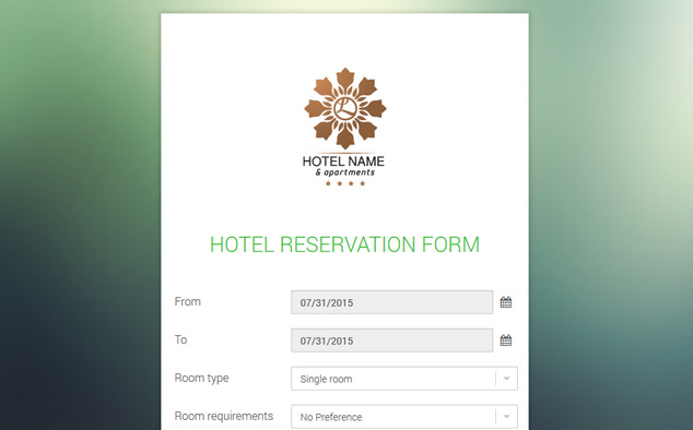 Get this printable conference room reserved sign and use it to notify visitors and employees that a conference room. Hotel Reservation Form Free Hotel Reservation Script Phpjabbers