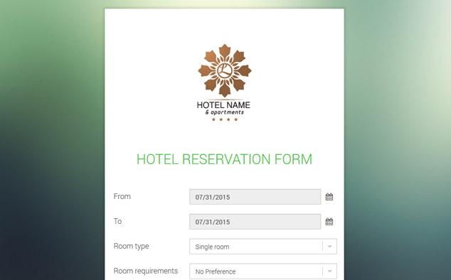Hotel Reservation Form Free Hotel Reservation Script