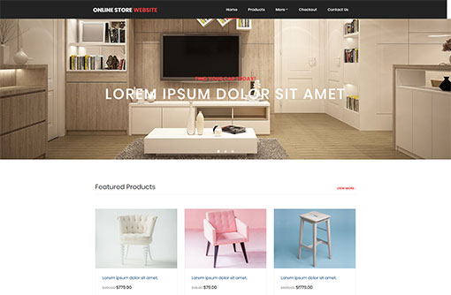Free eCommerce Website Templates   Online Store Templates   PHPJabbers Online Store Template