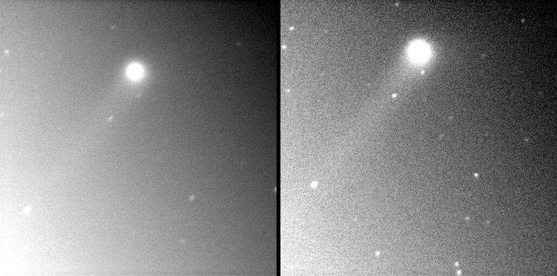 Comet Catalina grows two tails, soars at dawn