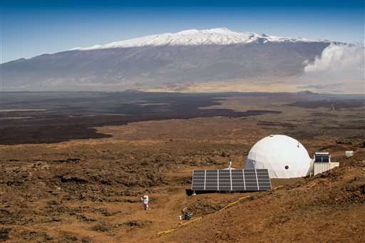 Scientists emerge from isolated dome on Hawaii volcano slope