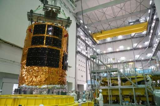 "Japan's unmanned cargo spacecraft, ""Kounotori"" is to blast off from the southern island of Tanegashima around 10:30 pm"