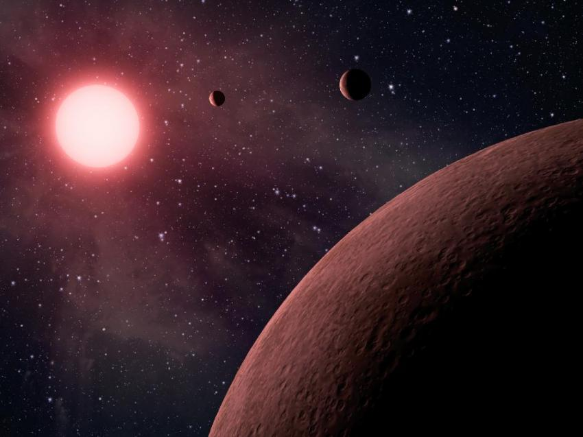 This artist's concept depicts a planetary system. Credit: NASA/JPL-Caltech