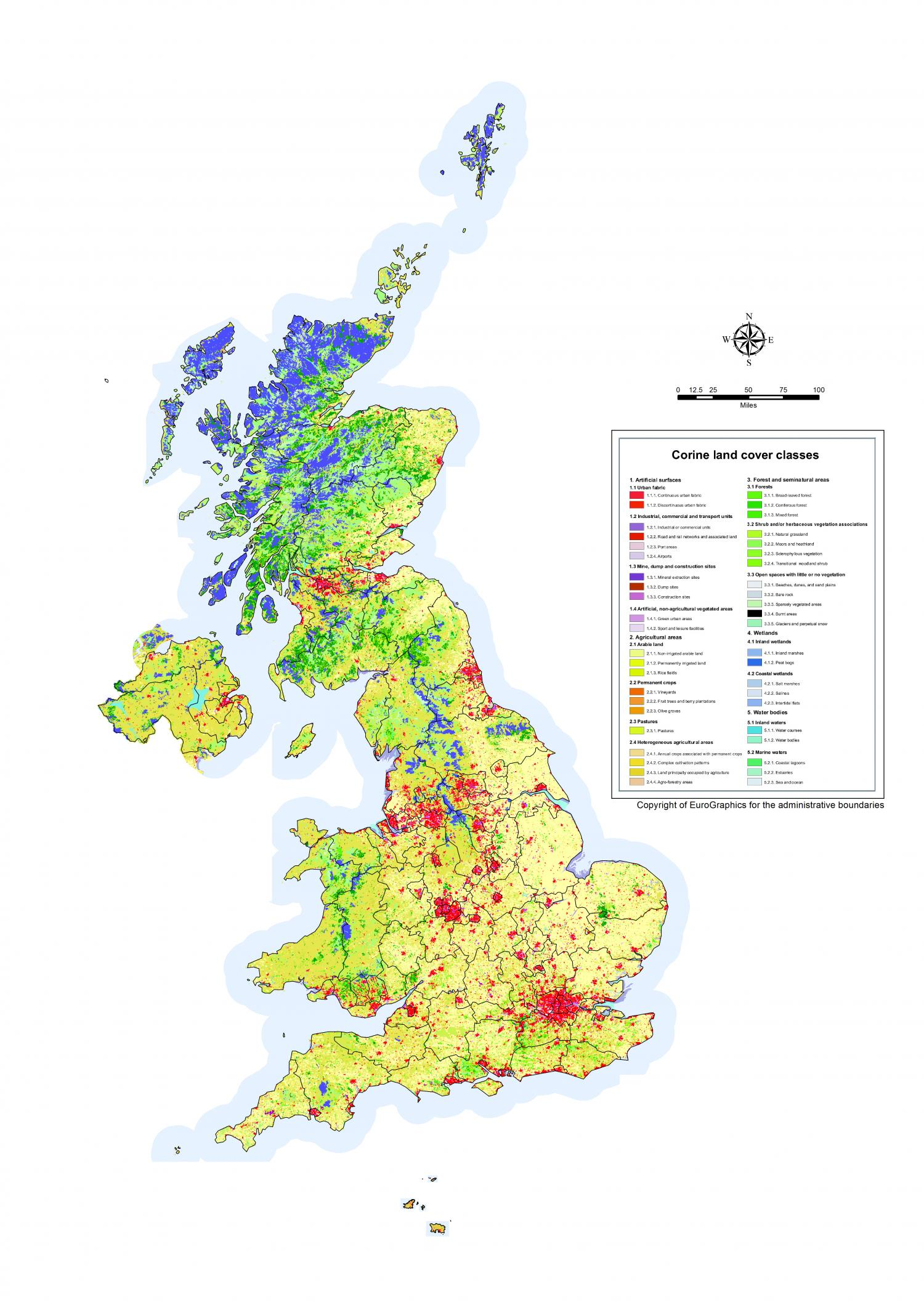 State Of Our Countryside Land Use Map Of United Kingdom